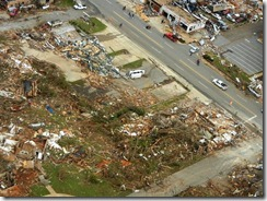 Across the street from Alberta Baptist Church in Tuscalosa after April 27 2011 Storm